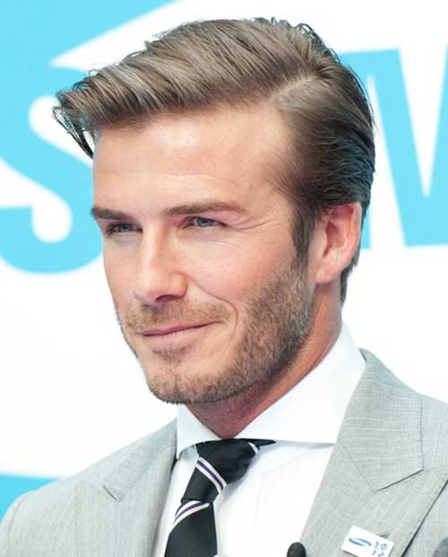 Best David Beckham Short Hairstyle 2014