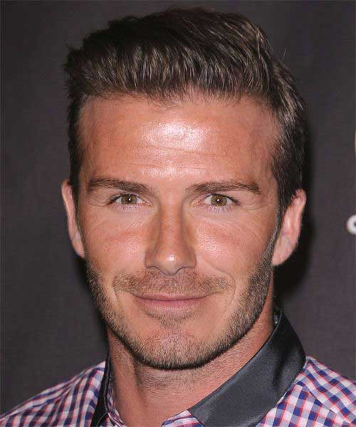 David Beckham Simple Cut Hair 2015