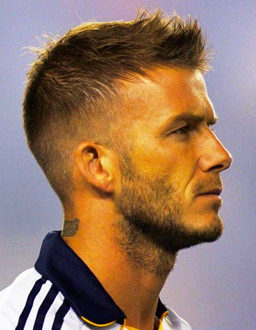 David Beckham Simple Short Hairstyles