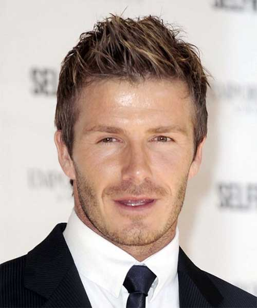 David Beckham Spiky Hair 2014
