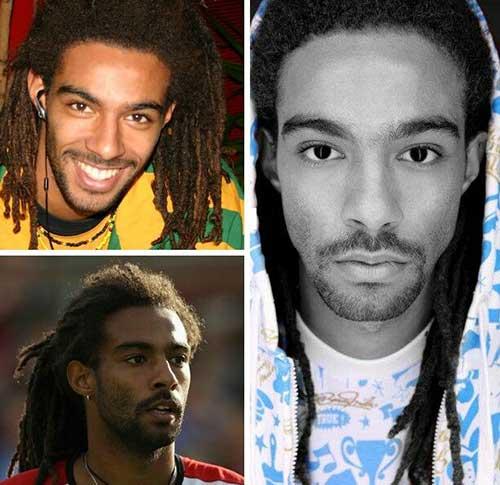 Dreds Long Brown Hair Styles for Black Men