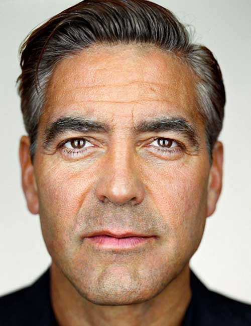 George Clooney Casual Cut Hair Styles