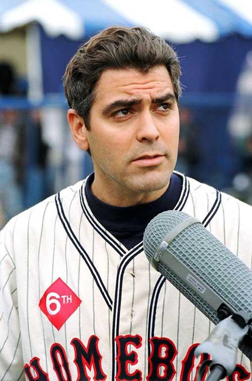 George Clooney Dark Brown Hair Style