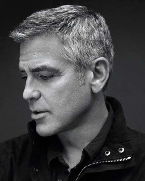 George Clooney Hair Side View Look