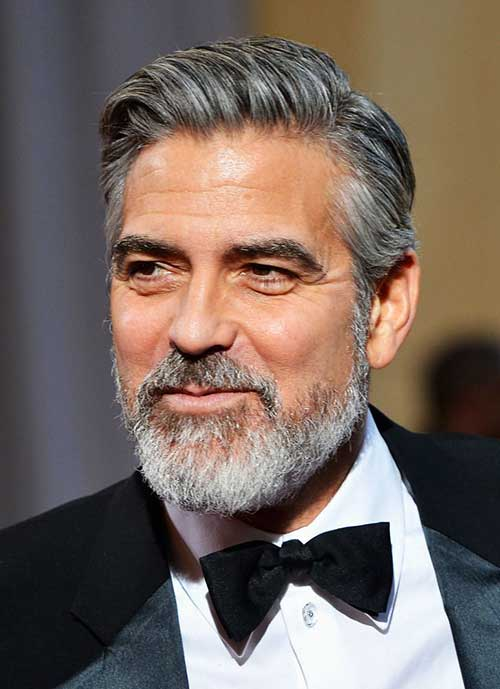 George Clooney Combed Over Hairstyle