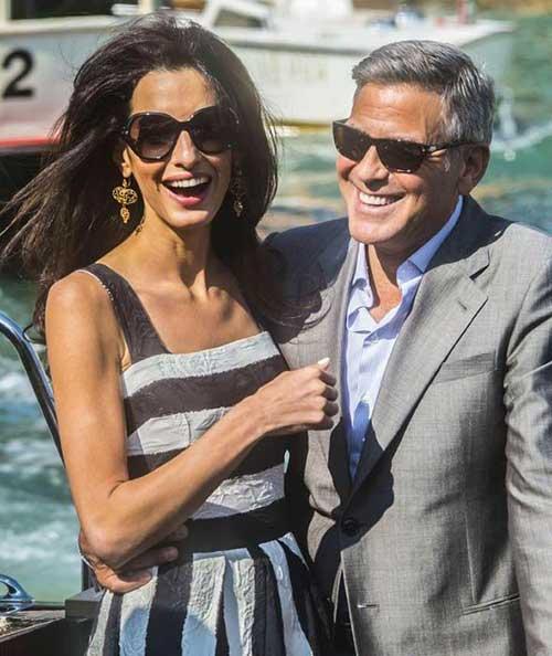 George Clooney Nice Grey Hair Short Cut