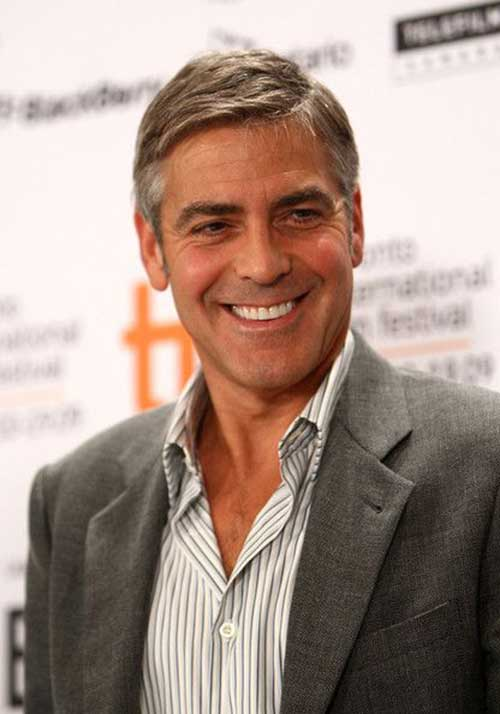 George Clooney Nice Short Hair Pictures