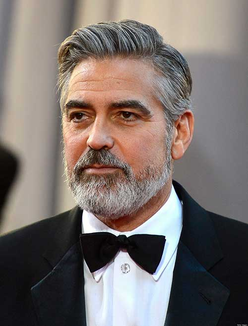 George Clooney Pompadour Hair Styles