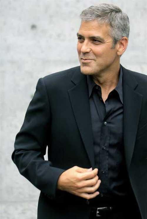 George Clooney Short Grey Hair