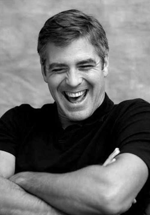 George Clooney Short Straight Hair Style