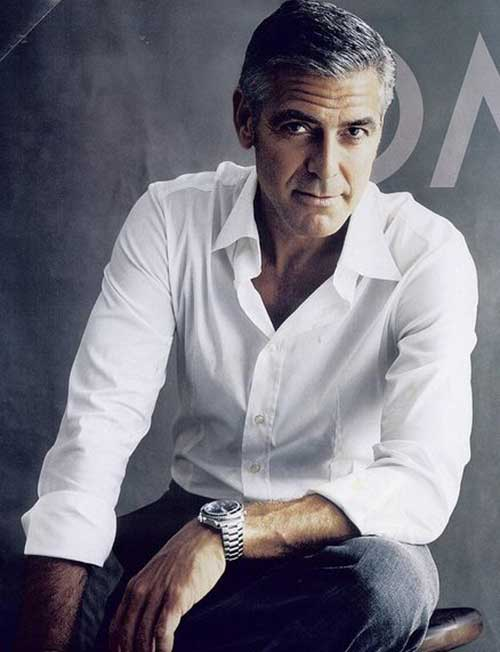 George Clooney Stylish Hair Cuts