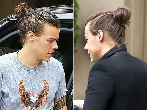Harry Styles Man Bun 2015