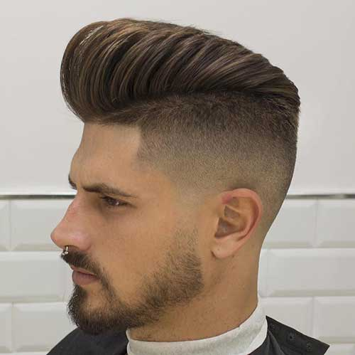 High Fade Pompadour Mens Hairstyles 2016