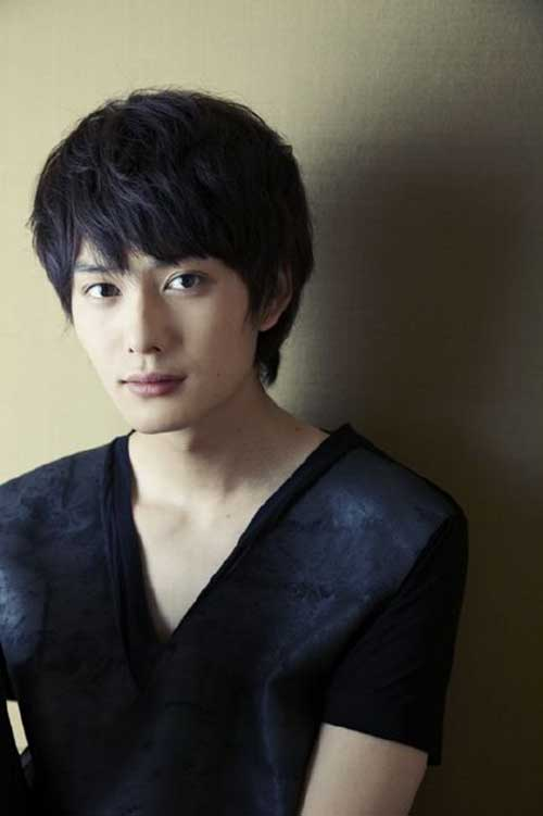 Japanese Men Dark Brown Haircut
