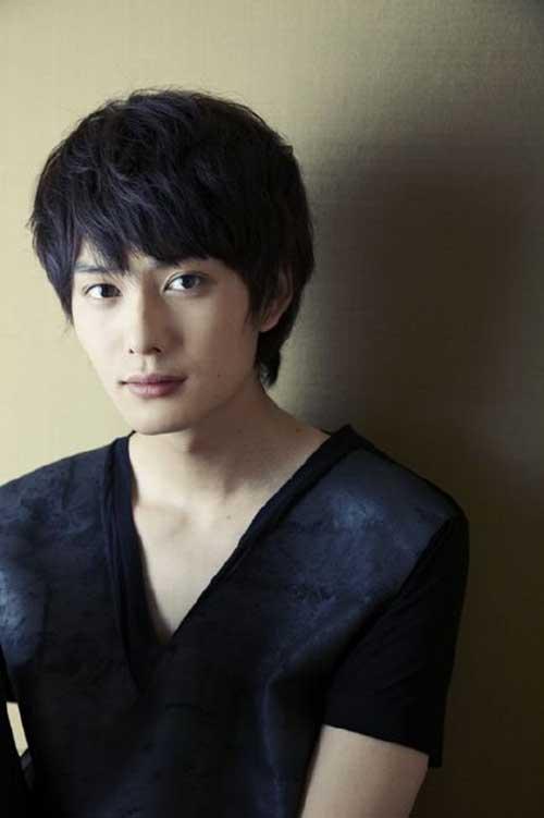 Japanese Men Dark Brown Haircut