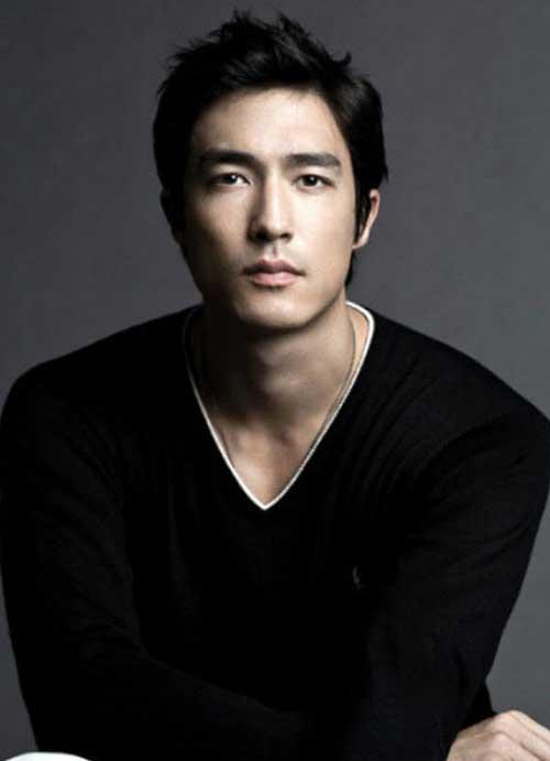 Korean Short Dark Hairstyle for Men