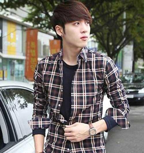 Korean Straight Medium Hairstyle for Men