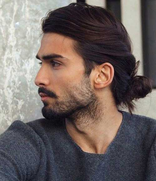 Latest Mens Long Hairstyles Bun