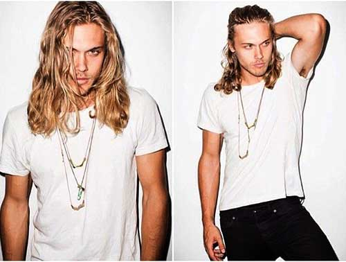 Cool Long Blonde Hair Guy