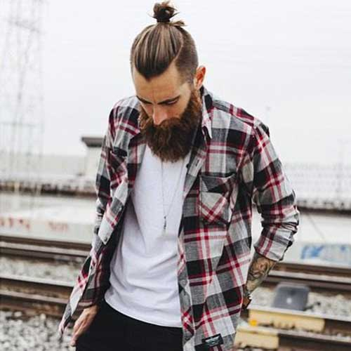 Long Hairstyle Men Bun 2016