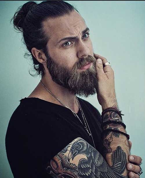 Long Hairstyles Bun 2015 Men
