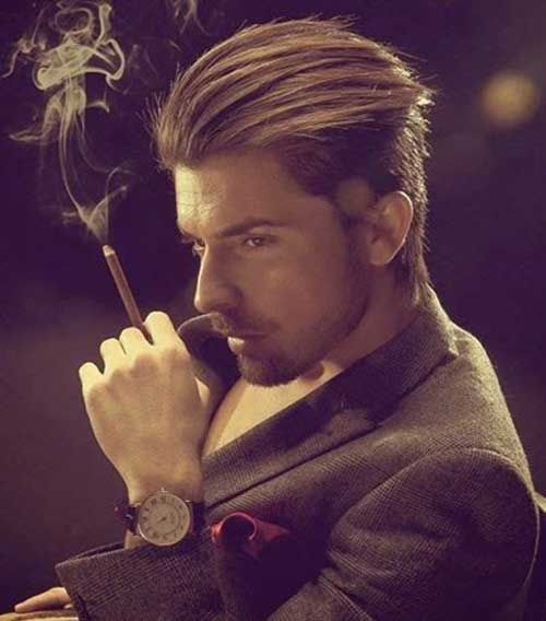 Slicked Back Long Hairstyles Men 2016
