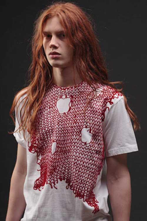Long Ginger Hairstyles Men