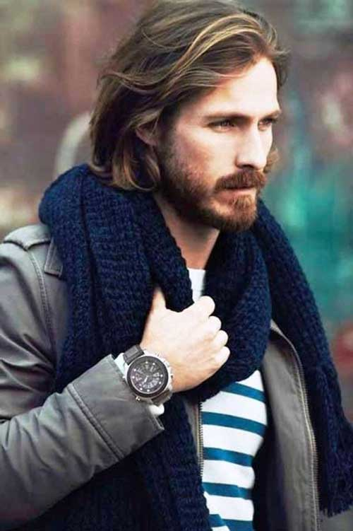 Stately Long Hairstyles for Men 2015