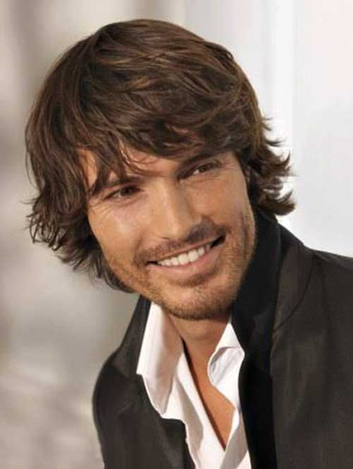 Medium Curly Shaggy Hairstyles for Guys