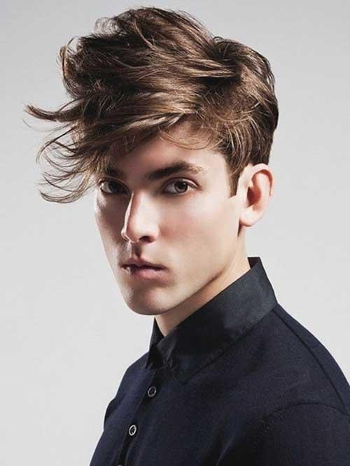 Messy Medium Hairstyles Men