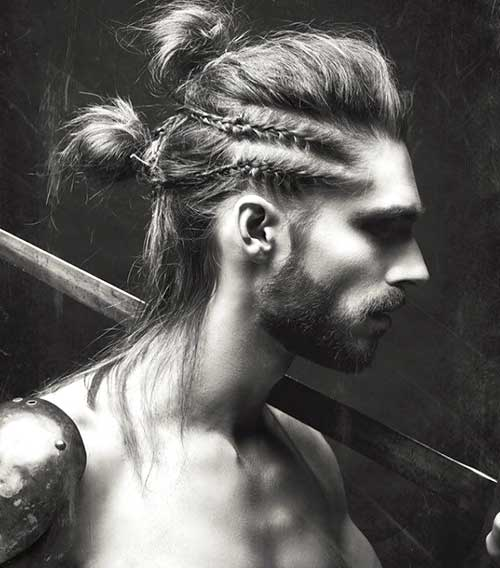 Men Braided Bun Hairstyles