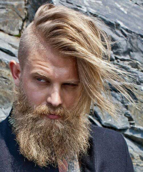 Men with Long Side Shaved Hair 2015