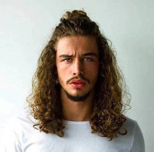 Men with Natural Hair Half Bun