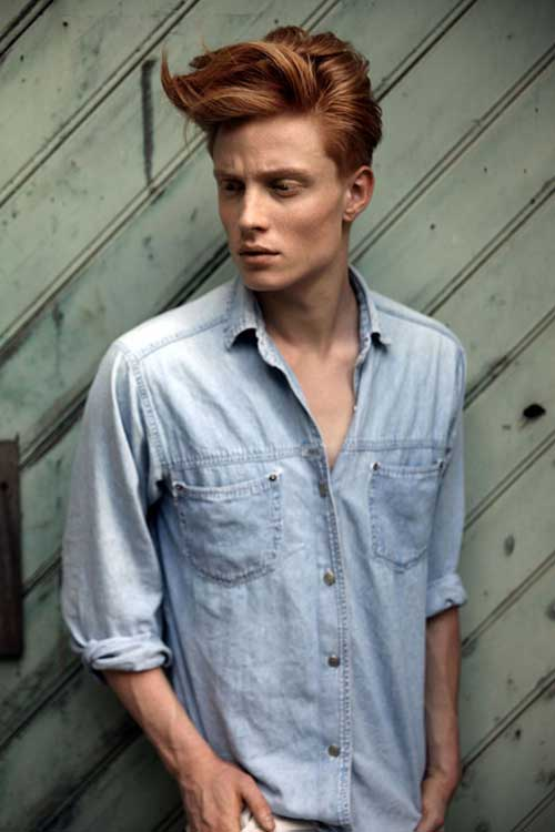 Best Mens Ginger Medium Hair Style 2015