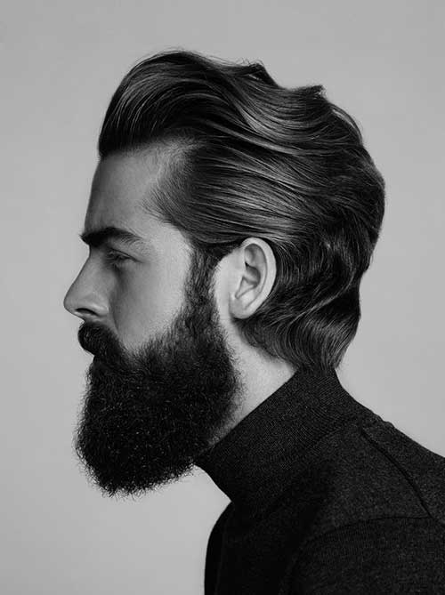 Mens Medium Hair Cut Side View Look