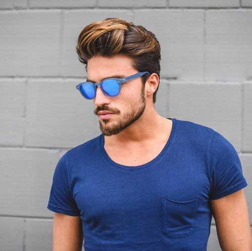 Mens Medium Highlighted Hairstyles