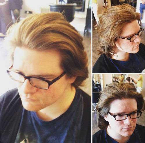 Medium Long Blonde Straight Hair Style