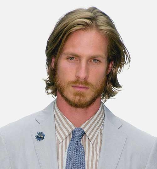 Mens Medium Straight Style Haircuts