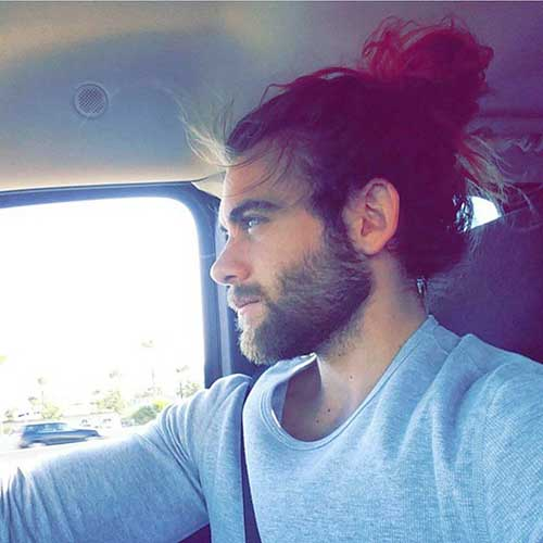 Mens Messy Top Knot Hairstyles