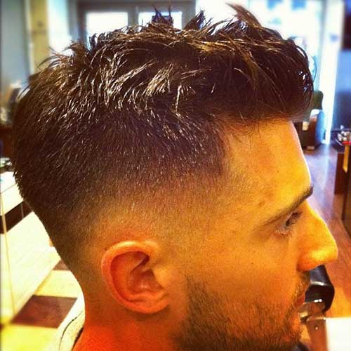 Trendy Mens Short Back and Sides Haircut