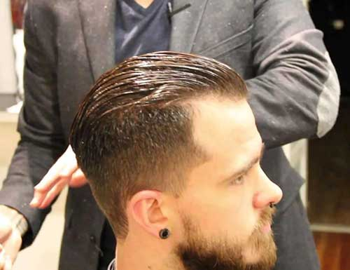 Mens Short Back and Sides Pompadour Hair Styles
