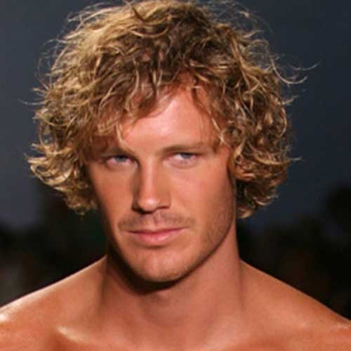 Mens Surfer Hairstyles for Thick Curly Hair Ideas