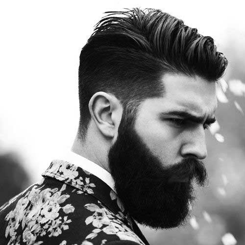 Mens Tapered Dark Haircuts