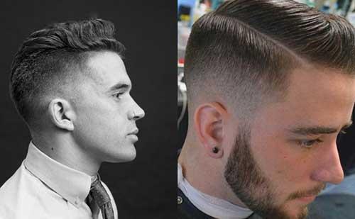 Mens Tapered Hard Part Haircuts