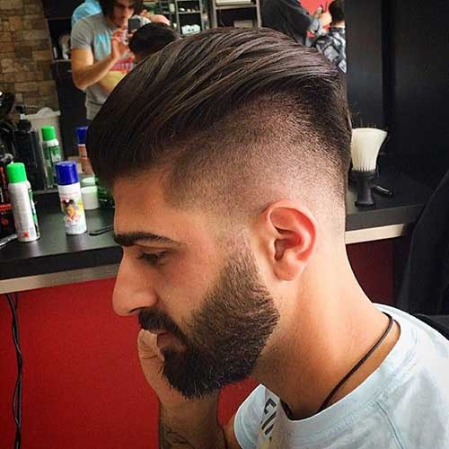 Mens Trendy Shaved Side Hair Cuts