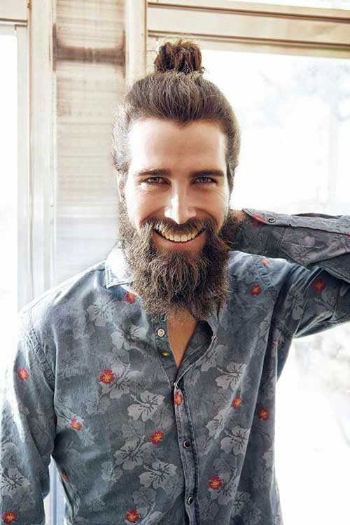 Mens Trendy Top Knot Hairstyles