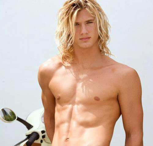 Best Messy Long Hair Men Style