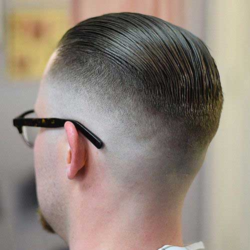 Mid Fade Slick Back Hairstyles 2016