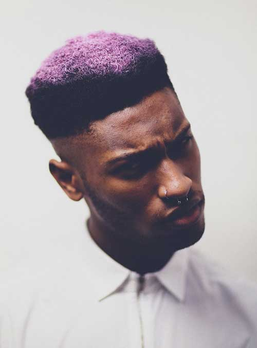 New Shaved Side Hairstyle for Black Men