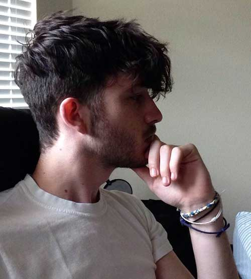 Shaggy Faded Hairstyle for Guys